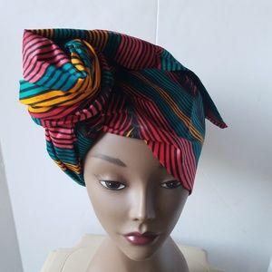 Trendy African wax head wrap/scarf/tie/turban.